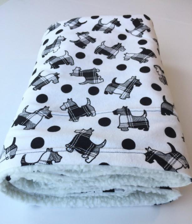 Scottie Dog Blanket, Pet Blanket, Scotty Baby Blanket, Dog Throws