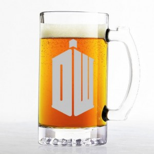 Doctor Who - Phone Booth / Tardis - Etched Beer Mug