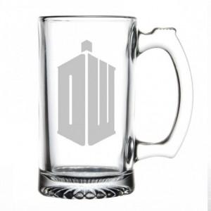 Doctor Who - Phone Booth / Tardis - Etched Beer Mug