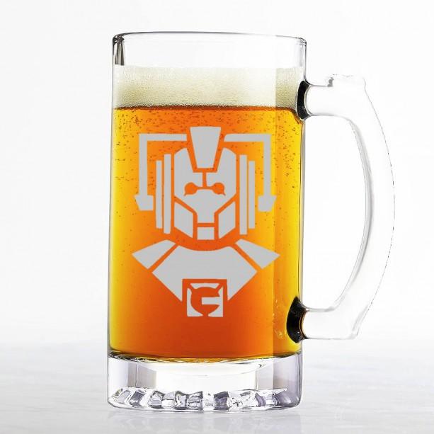 Doctor Who - Cyberman - Etched Beer Mug