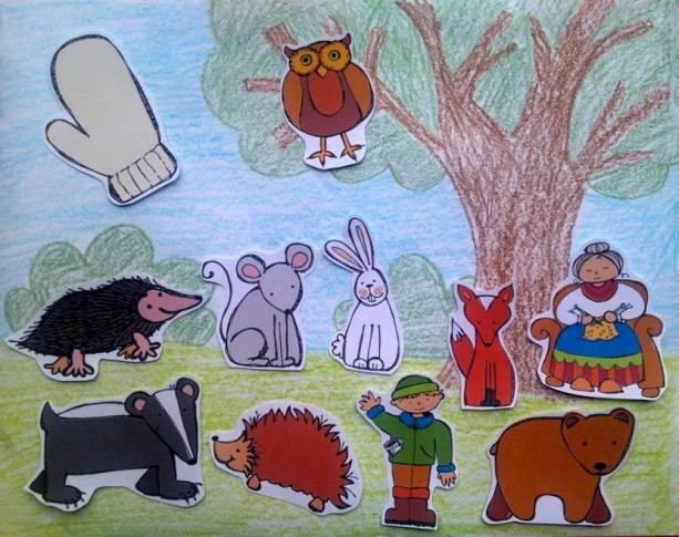 The Mitten Felt Board, flannel board story, felt board story, homeschool, early childhood, imaginative, quiet book, montessori, busy book
