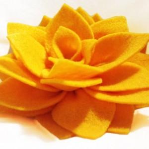 Handmade Lotus Blossom Flower Clip Hair Accessory - 2 Flowers