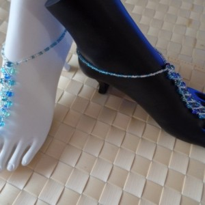 Beautiful Exotic Waters Barefoot, Soleless Sandals, Sexy, Dressy, Classy, Handmade item, made to order