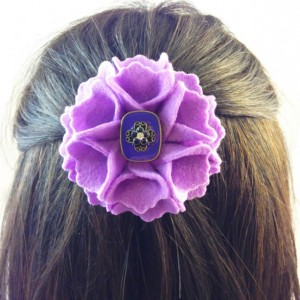Handmade Beauty Blossom Flower Hair Clip Accessories - 2 Flowers
