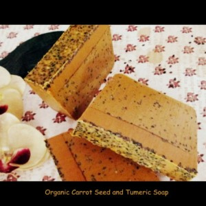 Organic Carrot Seed  Oil And Turmeric Soap~Psoriasis~Eczema~Acne Soap~Vegan Soap~Herbal Soap~Essential Oil Soap
