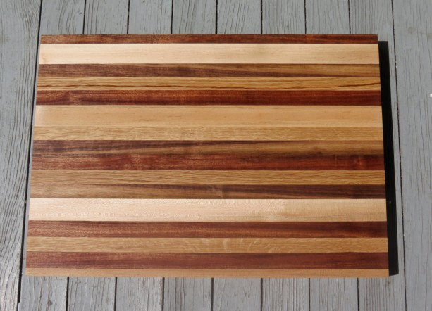 extra large wood cutting board  mixed grain butcher block style,