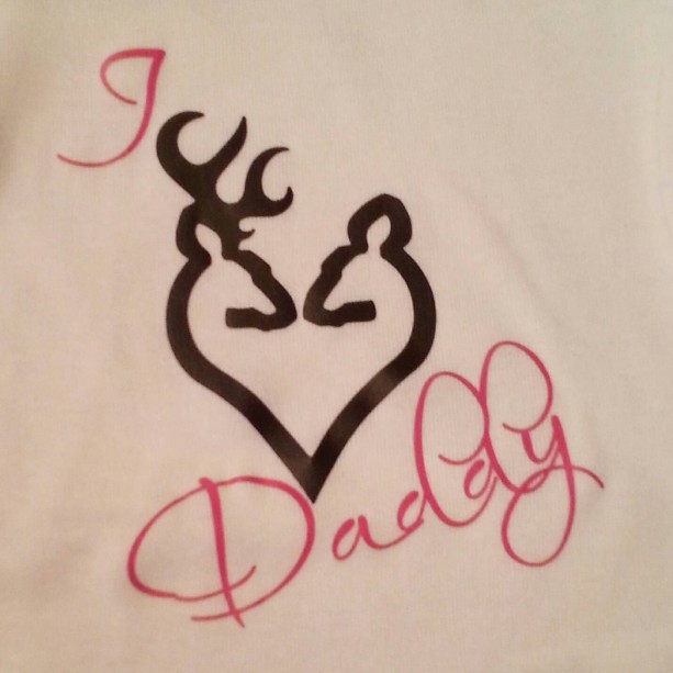 i love daddy buck and doe new baby gift baby shower hunting ones