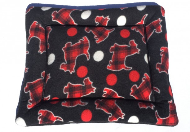 Scotty Dog Bed, Dog Crate Pads, Small Puppy Mat, Small Crate Pad, Fleece Pet Bed, Scottie Dog Bed, Scottie Dog Fabric, Chair Cushion