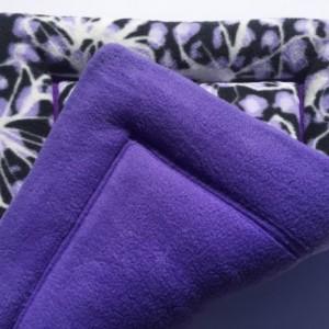 Purple Dog Cat Bed, Dog Crate Pads, Puppy Pad, Large Crate Pad, Fleece Pet Bed, Couch Cushion, Purple Cat Mat, Designer Pet Beds, Kitten Mat