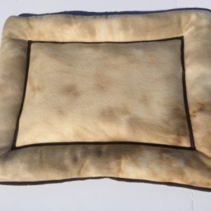 Tie Dye Khaki Small Dog Bed, Cat Mat, Couch Pad, Dog Crate Pad, Fleece Kennel Bed, Gift for Pets, Designer Dog Bed
