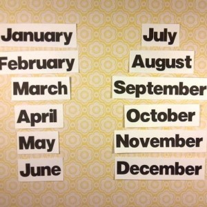 Felt Board Months, Flannel Board Story, Home School, Montessori, Early Reader, Early Childhood, Quiet Book, Busy Book, Teacher Resource