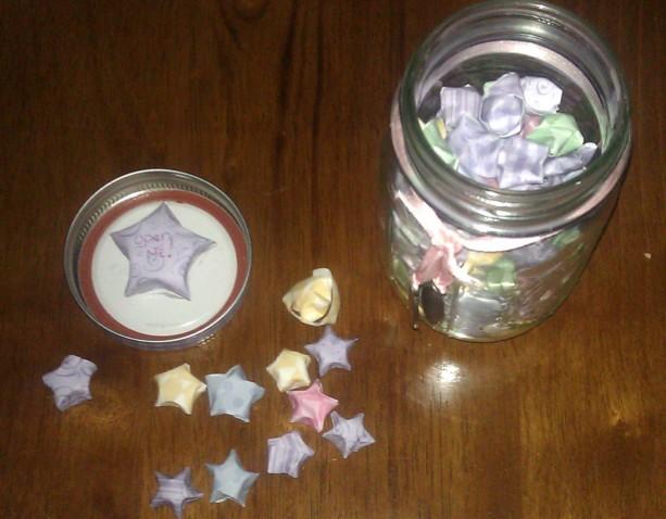 Jar Of Inspiration Wish Jar Wishing Stars Origami Stars Quote