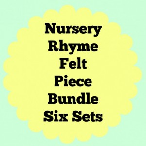 Felt Nursery Rhymes, Felt Combo Pack, Quiet Book, Busy Book, Homeschool, Preschool, Teacher Resource, Pretend Play, Flannel Board Story