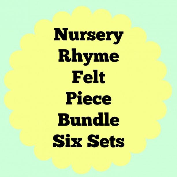 Felt Nursery Rhymes, Felt Combo Pack, Quiet Book, Busy Book, Homeschool, Preschool, Teacher Resource, Pretend Play, Flannel Board Story