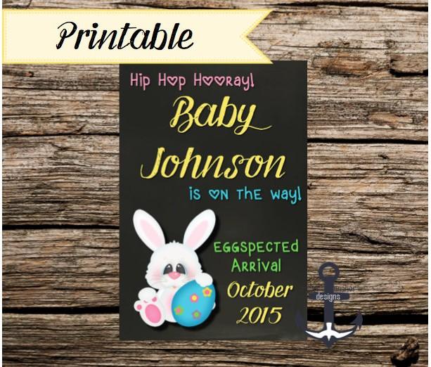 free printable pregnancy announcement templates