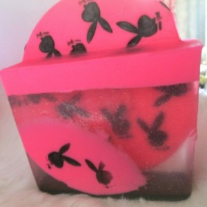 Playboy Bunny  Inspired Soap~Miss Cherie Dior~Glycerin Soap~ Hot Pink Soap