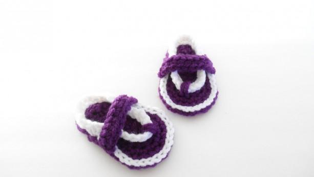 6d4430393 Crochet Baby Flip Flops - Crochet Baby Sandals - Crochet Flip Flo ...