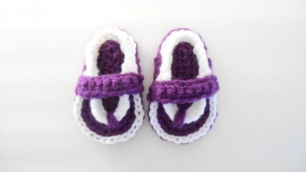 b796c3444 ... Crochet Baby Flip Flops - Crochet Baby Sandals - Crochet Flip Flops for  Babies - Newborn ...