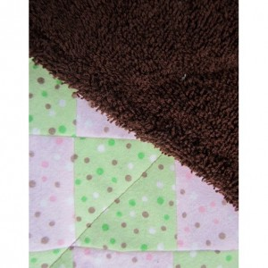 Pink and Green Burp Cloth