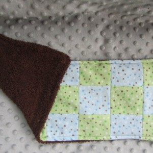 Blue and Green Burp Cloth