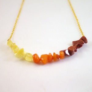 Orange Gold Ombre Necklace