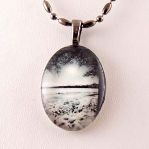 Professional, Brooklyn, winter scene, photo, glass pendant