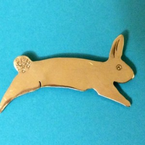 Order by 3/30 for Easter: Jumping Rabbit Sterling Silver Pin