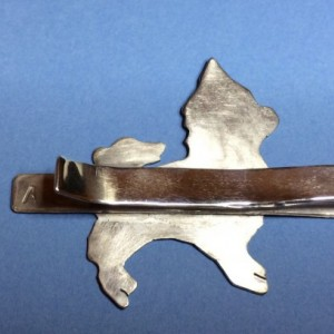 Made to Order Sterling Silver Chihuahua Tie Clip