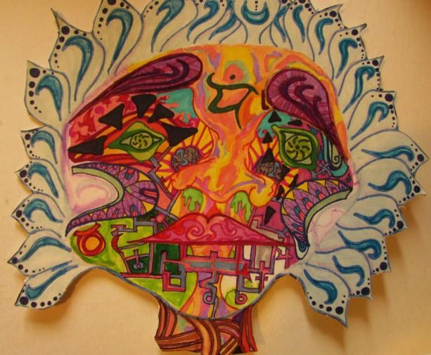 Self_abstract colorful wall art