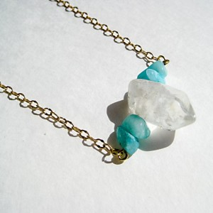 Crystal Quartz Light Blue Necklace