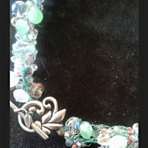 Spring Beauty Beaded Knitted Wire Necklace