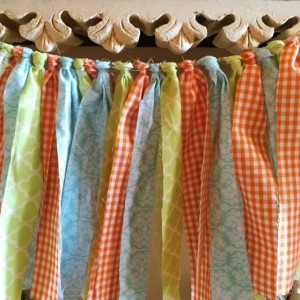 Vintage Chic fabric garland (priced per foot)