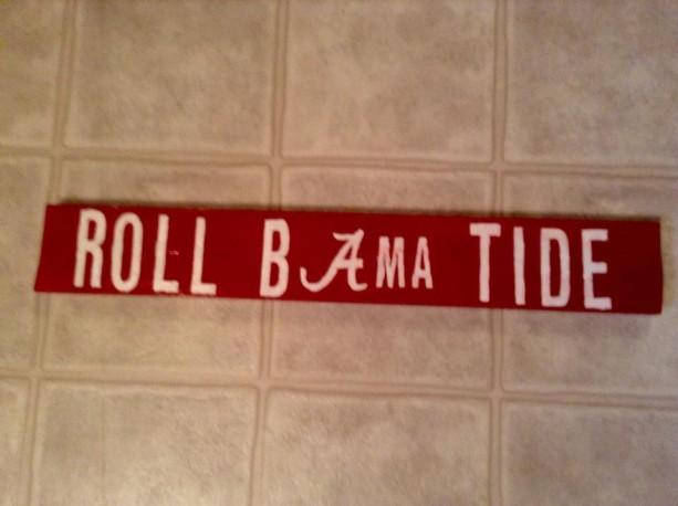 Alabama Spirit Handmade Sign