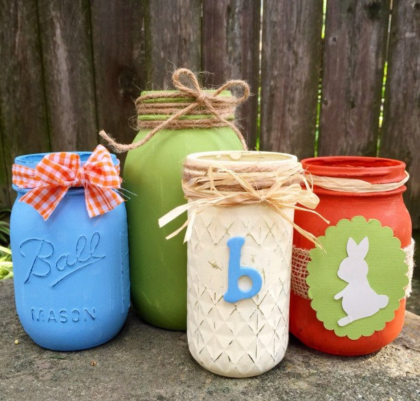 Customized mason jar vases