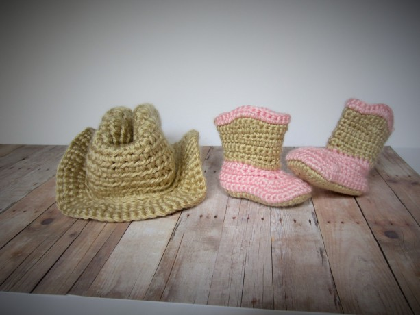 54c8d02e Crochet cowboy hat and boots set, cowboy hat, cowboy boots, cowgi ...
