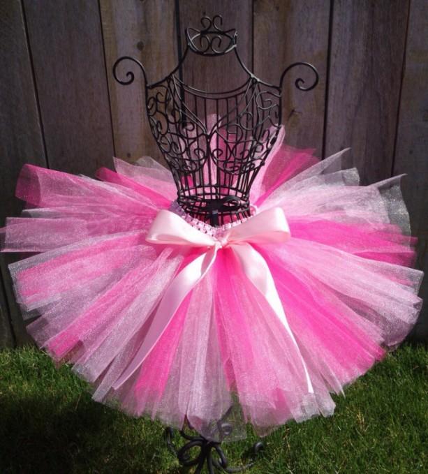 Pretty In Pink Tutu, READY TO SHIP, Pink Tutu, Infant Tutu, Newborn Tutu, Baby Tutu, Toddler Tutu, Birthday Tutu, Princess Tutu, Photo Prop