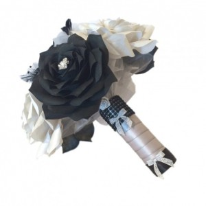 Paper Rose bridal party bouquets using handmade flowers in colors of your choice that will last a lifetime, Paper flower throw away bouquet