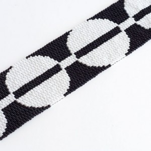 Modern Circles // Beaded Cuff // Black and White // Bracelet