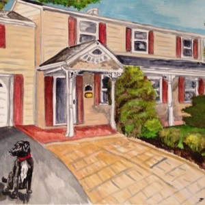 Custom House, Farm or Barn Portrait 11x14 watercolor painting, include pets! Watercolor house, housewarming gift, realtor gift, pet painting
