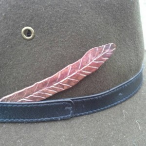 Hand Forged Copper Feather (for your hat)