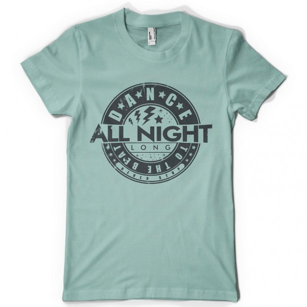 Dance All Night Adult Short Sleeve Tee Shirt  Plus Sizes available Dance Shirt, Dance to the Beat Shirt, Record, Vinyl