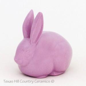 Lavender Bunny Ceramic Cotton Ball Holder Rabbit Cotton Keeper for Bath Vanity