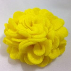 Handmade Carnation Flower Hair Clip Accessory - 2 Flowers