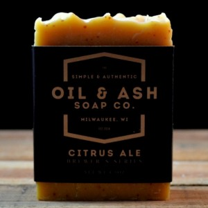 2 Pack- Citrus Ale Beer Soap, Exfoliant Soap, Handmade Soap, All Natural Soap, Cold Process Soap, Essential Oil Soap