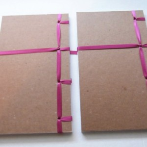 Pair of Journals | Gift for Writer | Japanese Stab Bound | Blank Books | Wrap Journals | Idea Books | Writing Journals | Hand Bound Journals