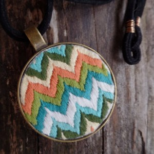 Multi Colored Chevron Necklace