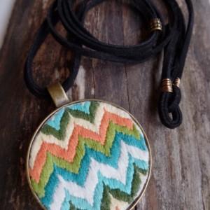Multi Colored Chevron Necklace