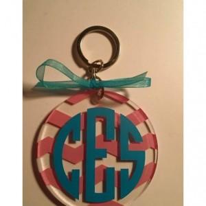 Custom Monogrammed Acrylic Keychain Keychains, Luggage Tag, Monogram, Custom Gift Tag