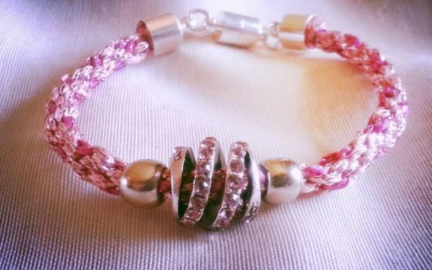 Petite Pink Braided Kumihimo Bracelet