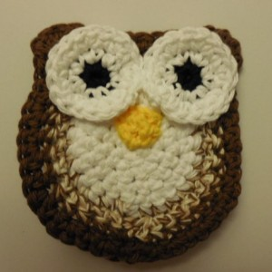 Set of 2 Owl Scrubbie , Dish / Pot Scrubby , Crochet Cleaning Scrubber , Brown Owl Scrubber , Handmade Tri - Colored Owl os155